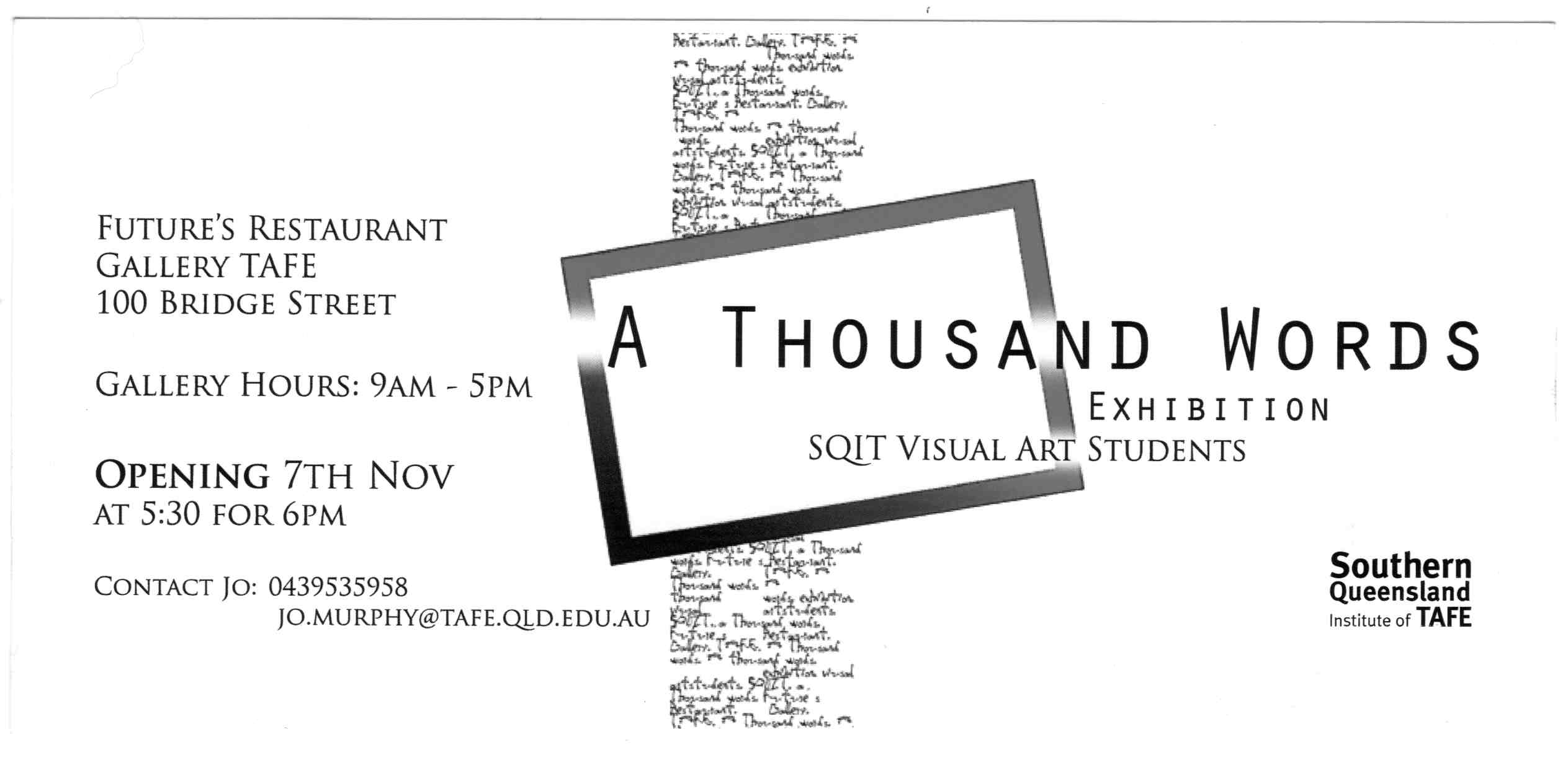 11 one thousand words futures gallery archive 1000 words exhibition invitation stopboris Image collections